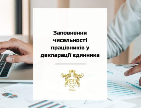Заполнение численности работников в декларации единщика