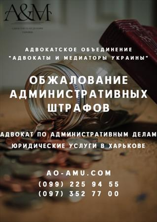 Обжалование штрафов. Решение административных споров Харьков
